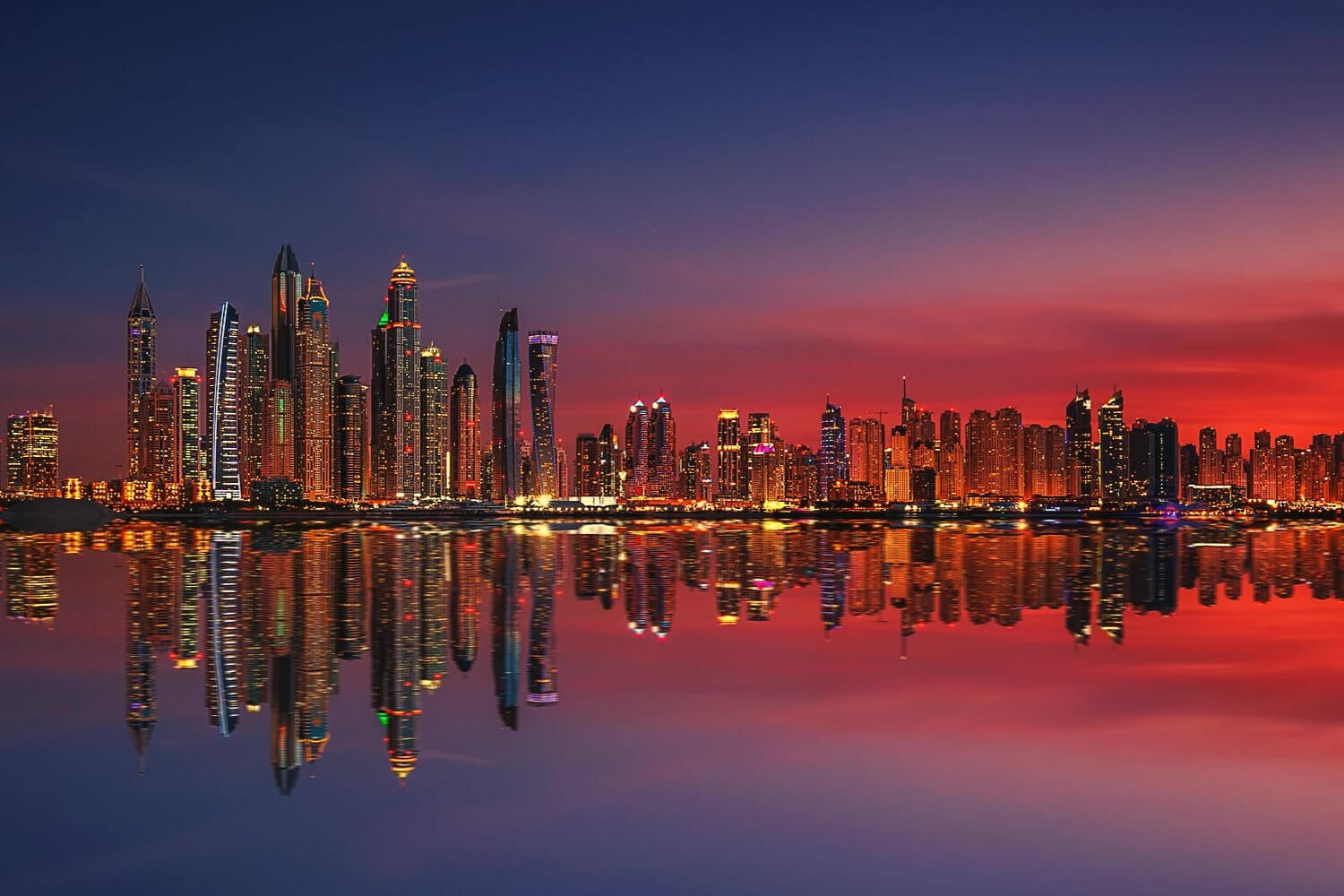 Dubai Travel Planner -Night Sunset glow over Dubai