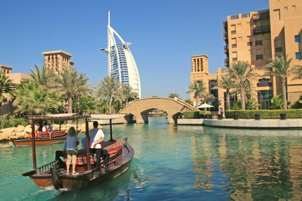 Abra infront of Burj Al Arab