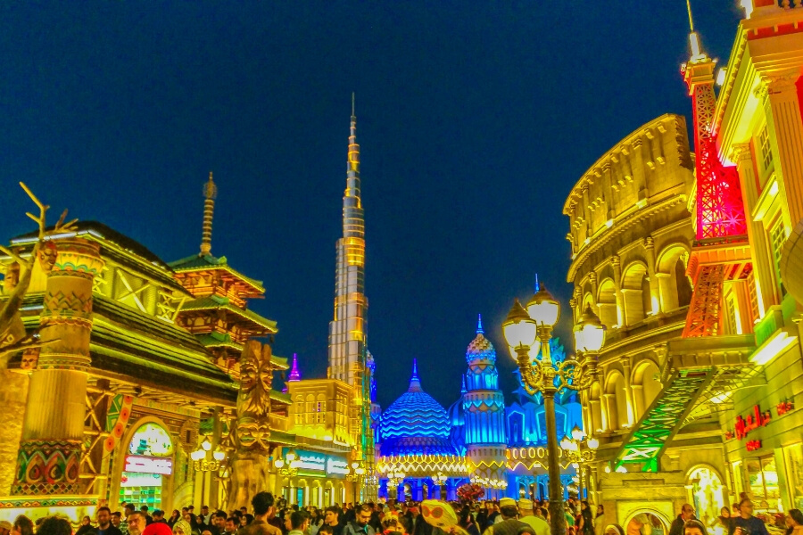 Dubai Global Village, an evening spectacular held during the cooler months