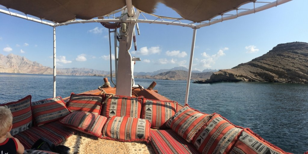 Dhow boat on the Musandam Peninsula