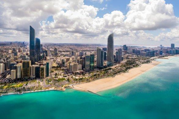 Abu Dhabi Skyline view along the Corniche