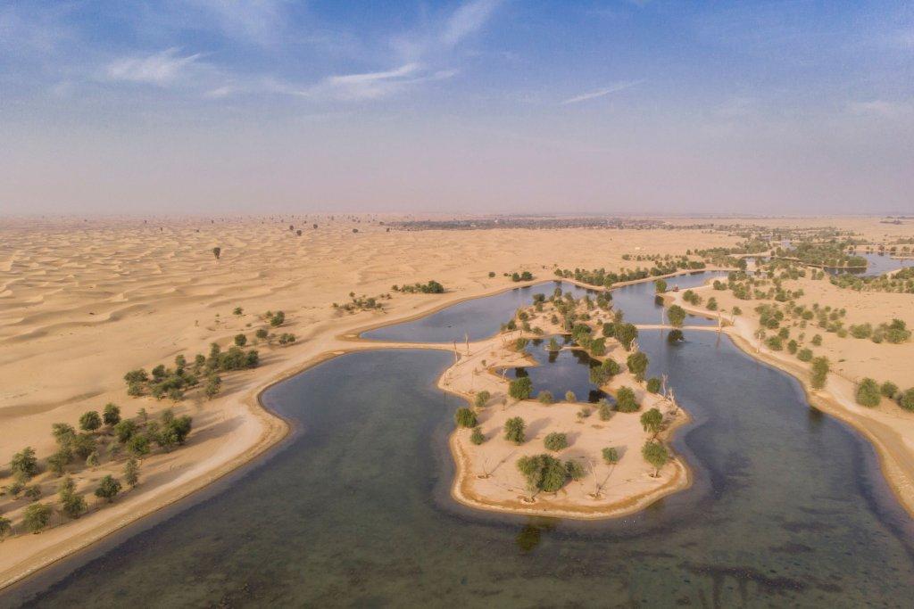 Al Qudra Lakes Dubai for desert camping