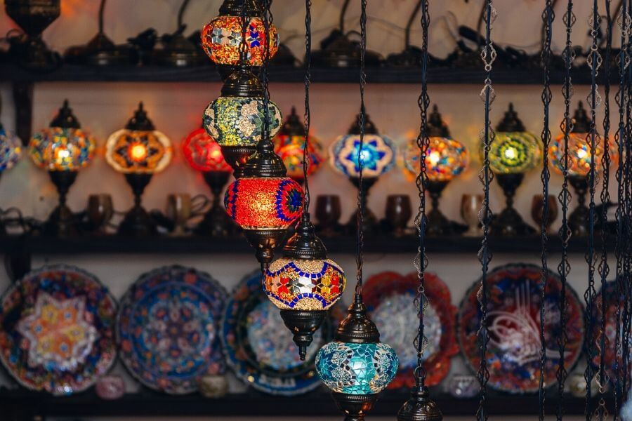 Arabic Lanterns souvenirs in Dubai
