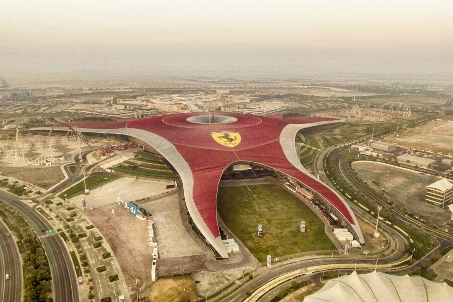 Ferrari World on Yas Island Abu Dhabi