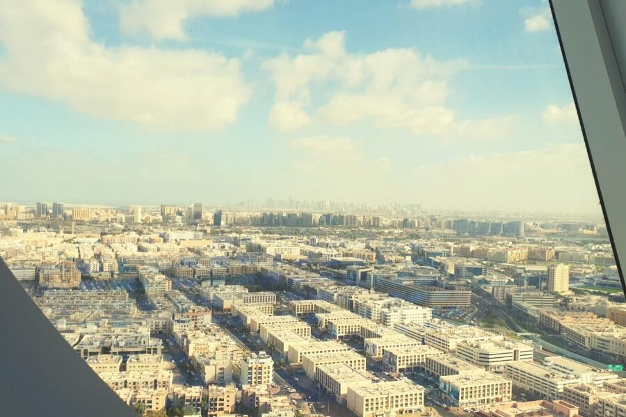 Old Dubai as viewed from the Dubai Frame