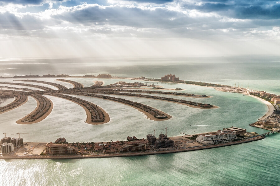 Dubai Palm Jumeirah from above