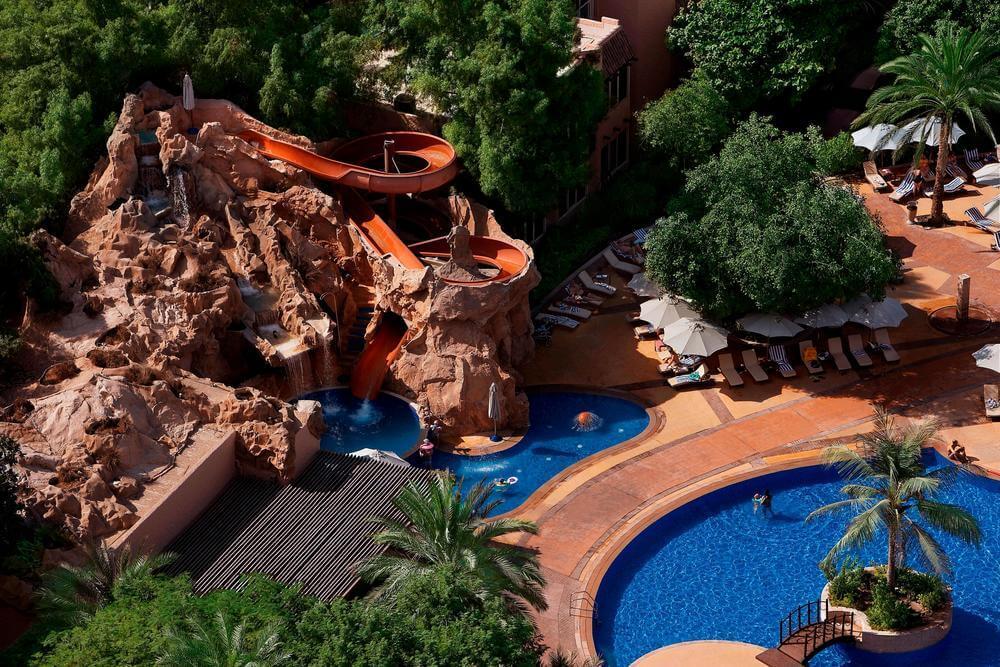 Habtoor Grand Resort Dubai slide and pool