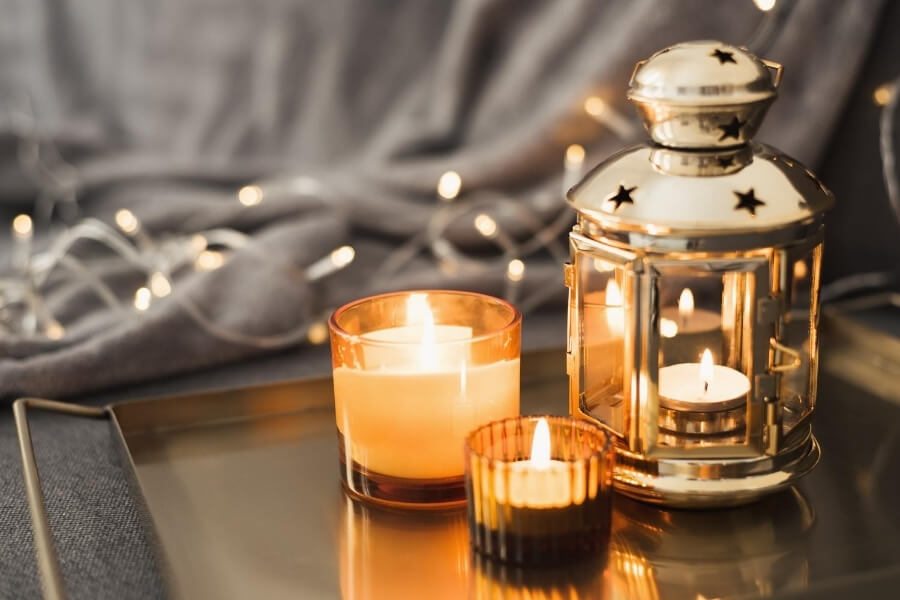 Lanterns and candles for ramadan