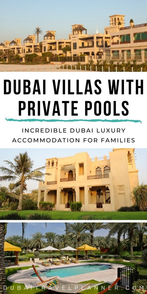 Luxury villas in Dubai offering private pools