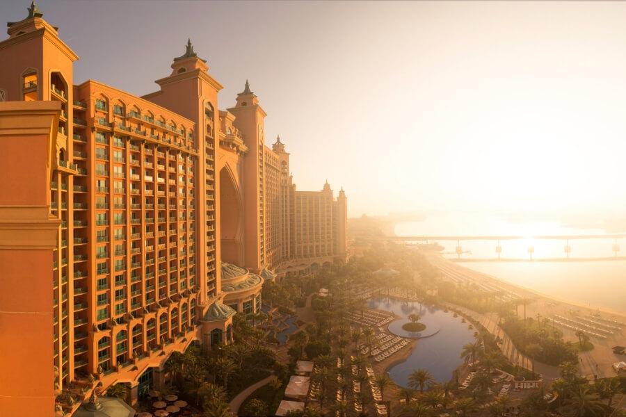 Atlantis the Palm at sunrise