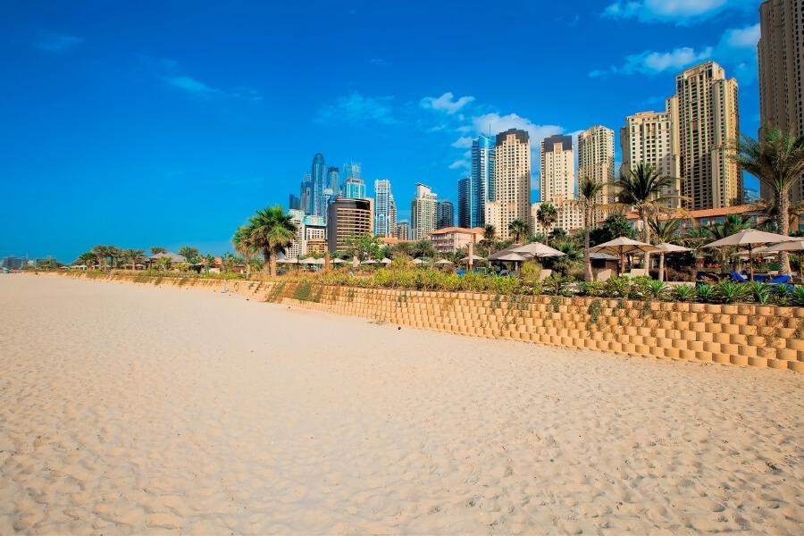 Jumierah Beach in Dubai