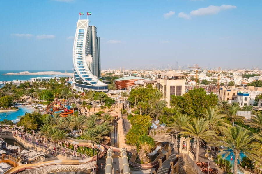 Jumeirah Beach Hotel with Wild Wadi Waterpark Dubai