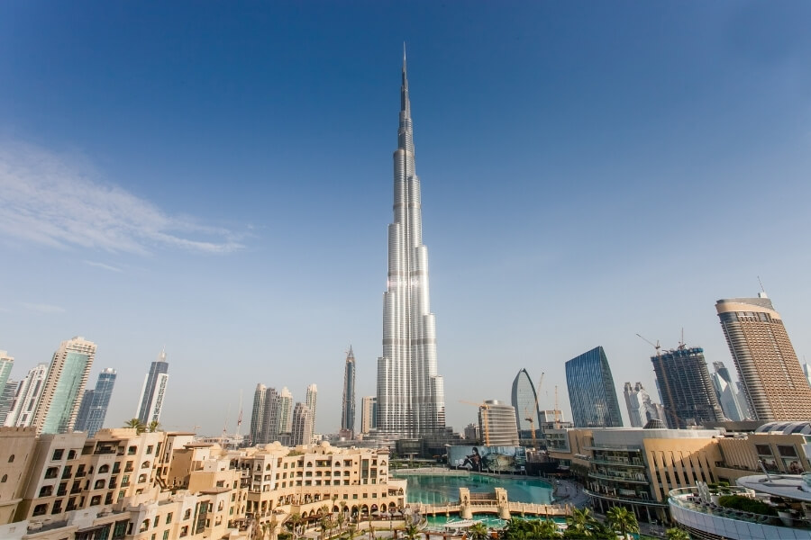 Panoramic view of the Burj Khalifa