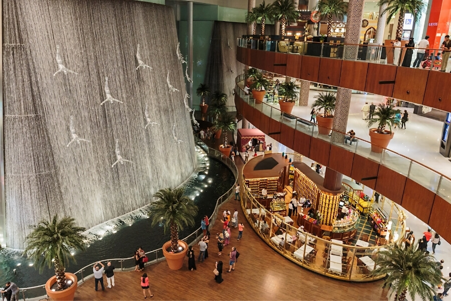 The Waterfall inside Dubai Mall