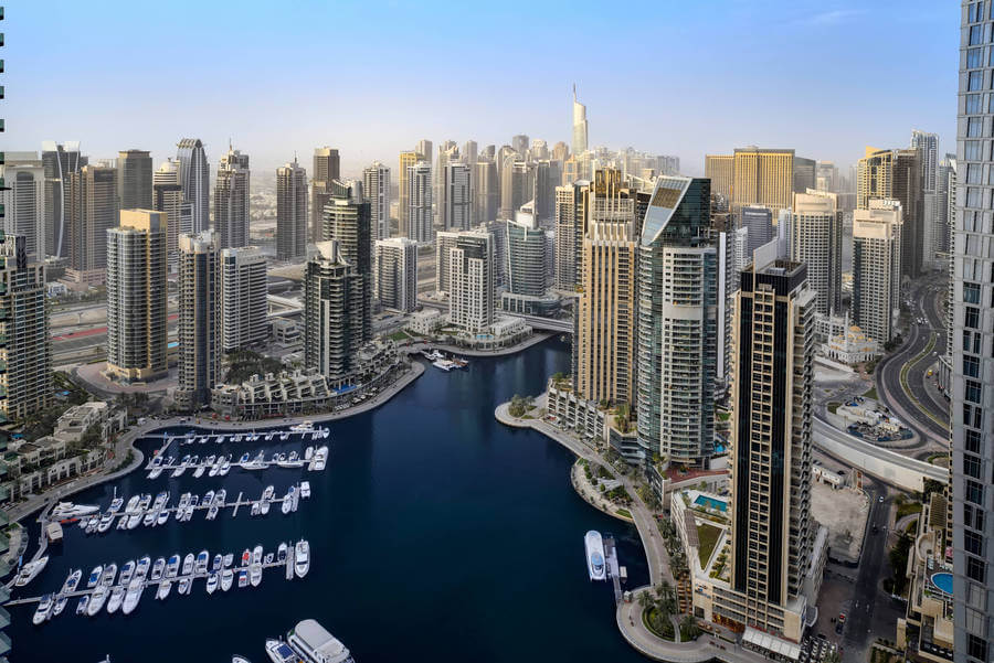 View from Dubai Marriott Harbour