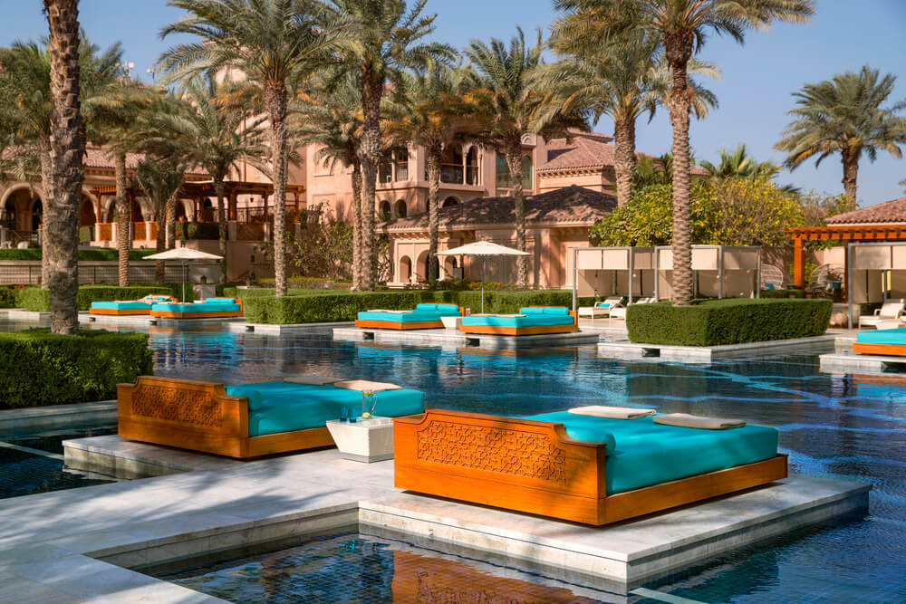 One and Only the Palm Sun Beds - Palm Jumeirah Dubai