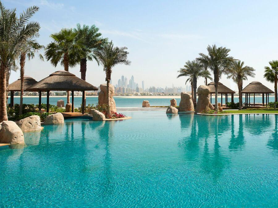 the pool at Sofitel the Palm Dubai