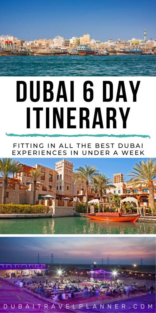 Dubai 6 Day itinerary