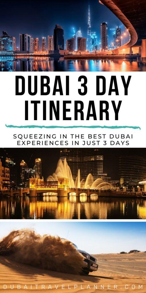Dubai 3 Day itinerary