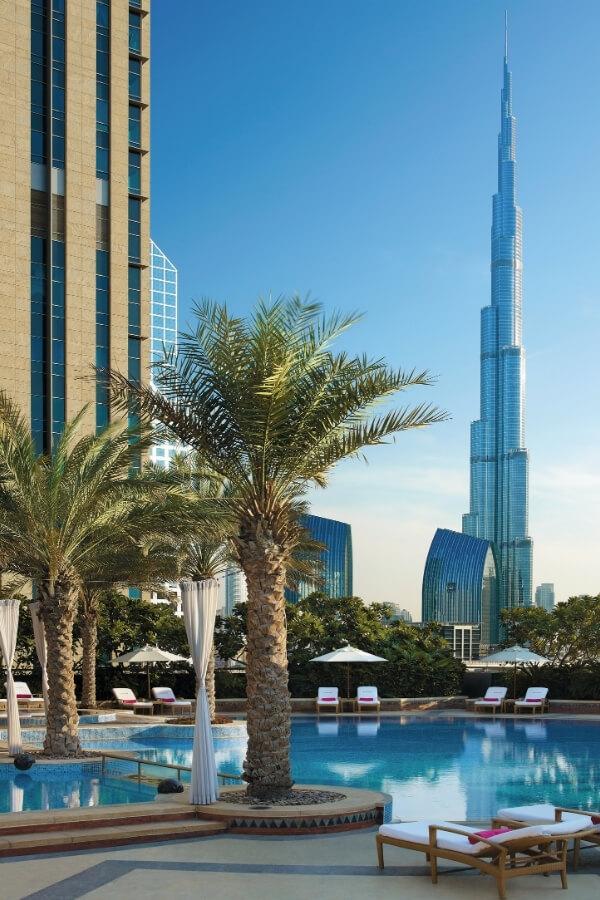 Shangri La Hotel Dubai unspoilt views of the Burj Khalifa Downtown Dubai