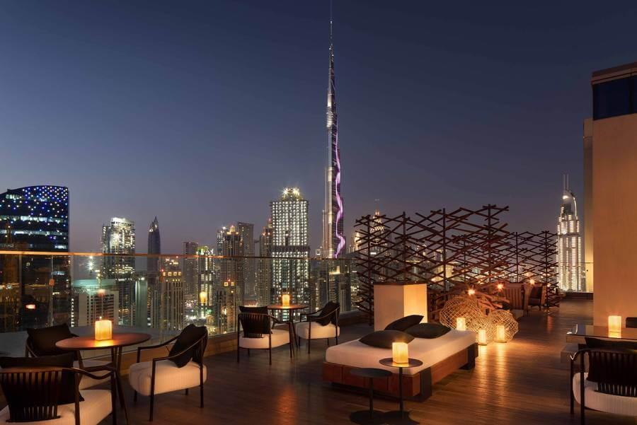 Morimoto terrace, Rennaissance Downtown Dubai
