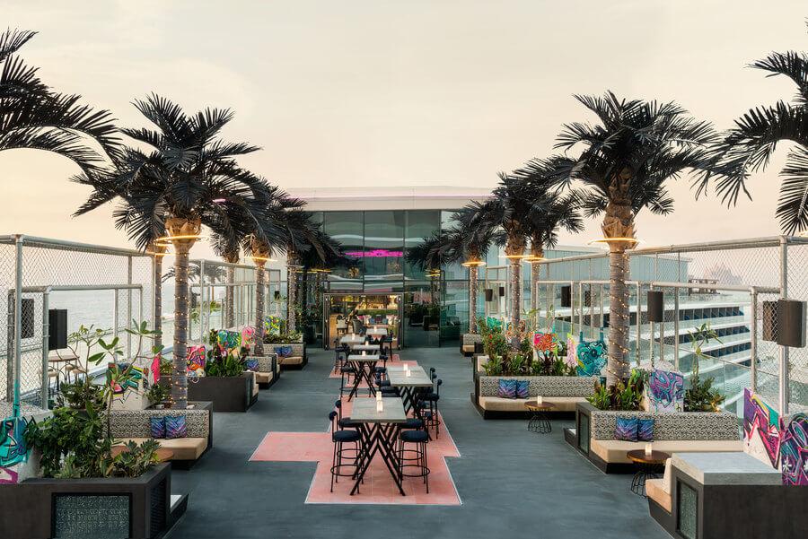 W Dubai The Palm SoBe Rooftop