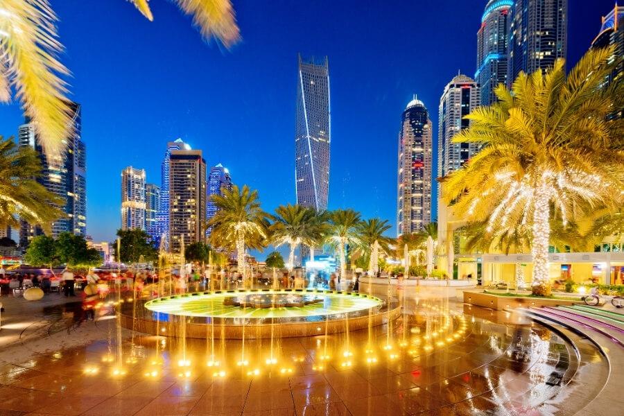 Dubai Marina Fountains