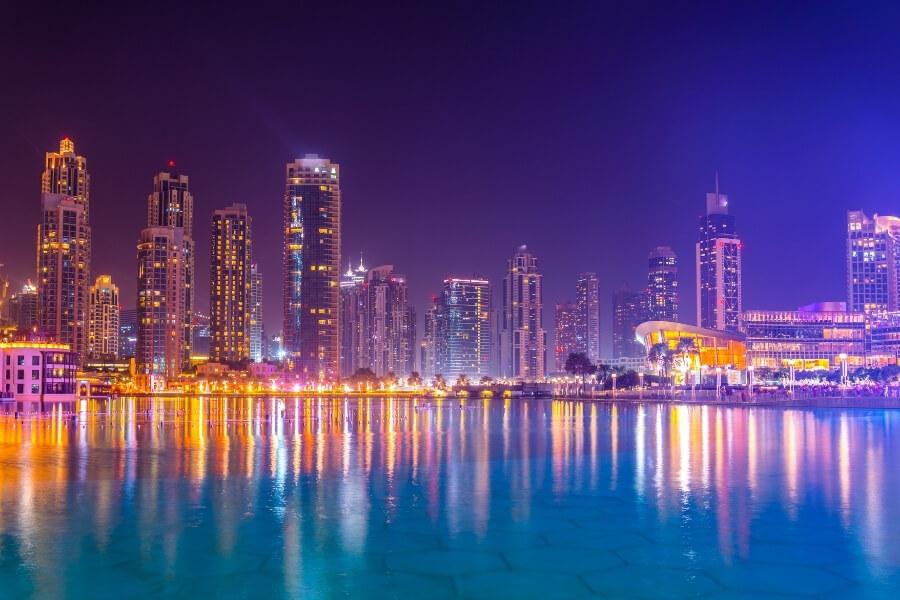 Dubai opera at night