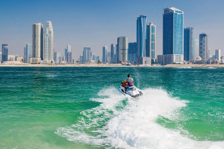 Jet Ski in the water of dubai