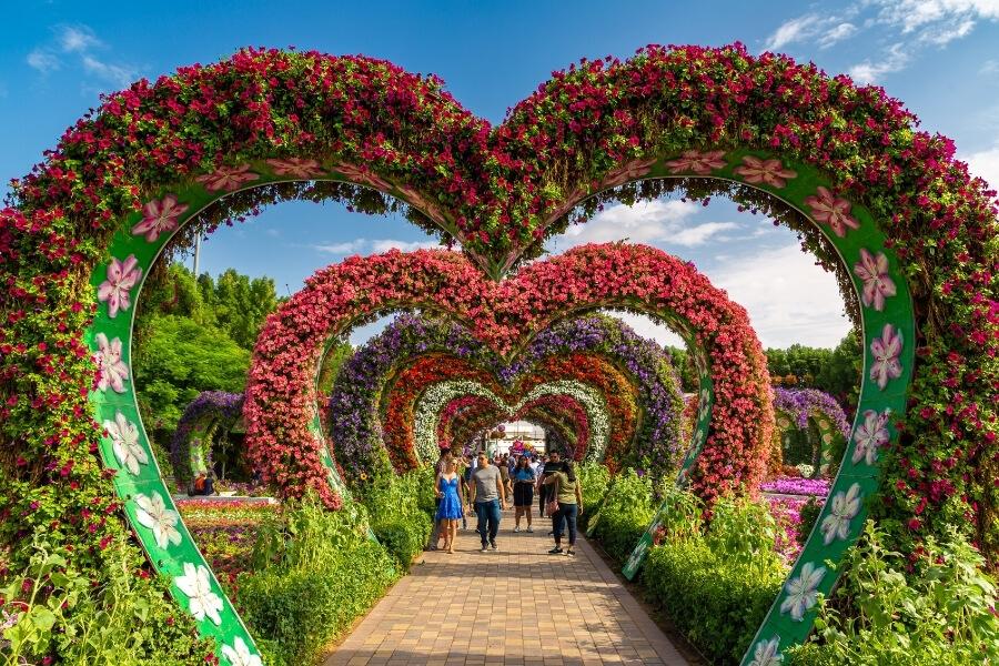 Dubai Miracle Garden Hearts Passage