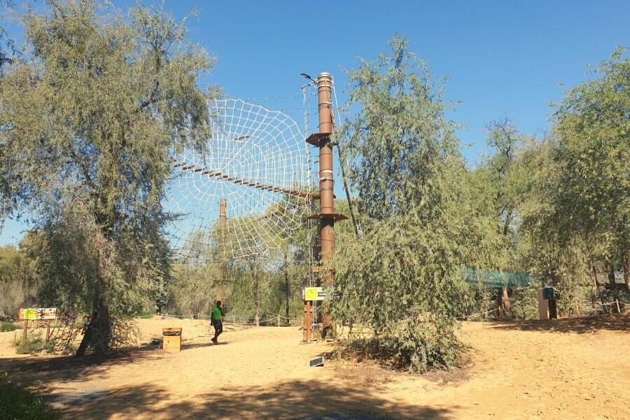 Aventura Parks Dubai - obstacle course in Mushrif Park Dubai