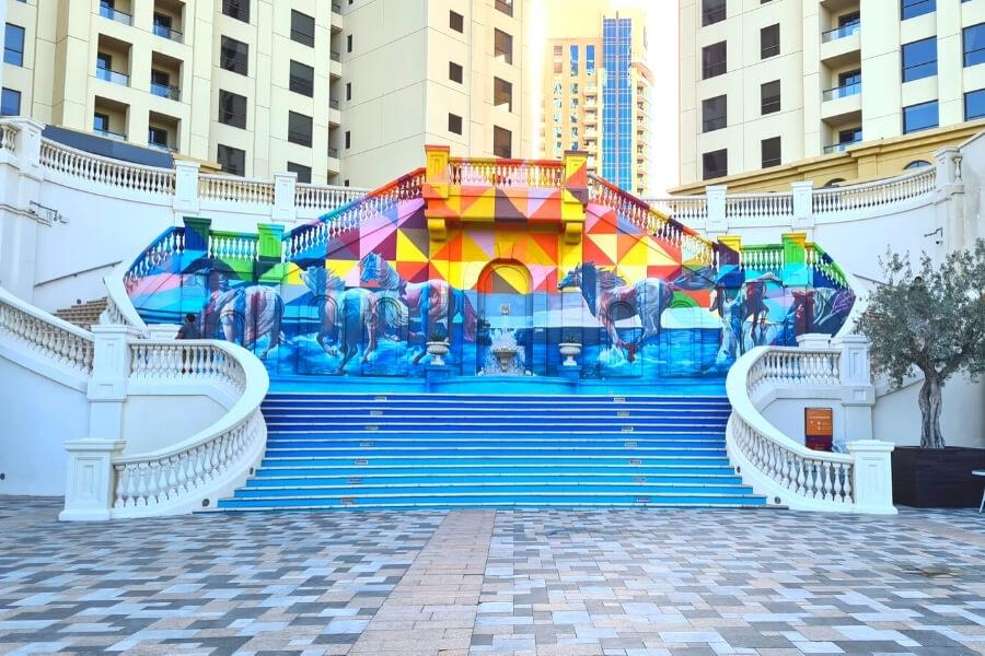 Street Art in The Walk Dubai JBR