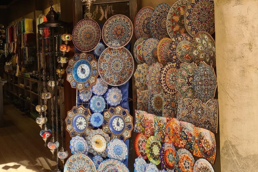 Colourful Shops in Al Seef Dubai