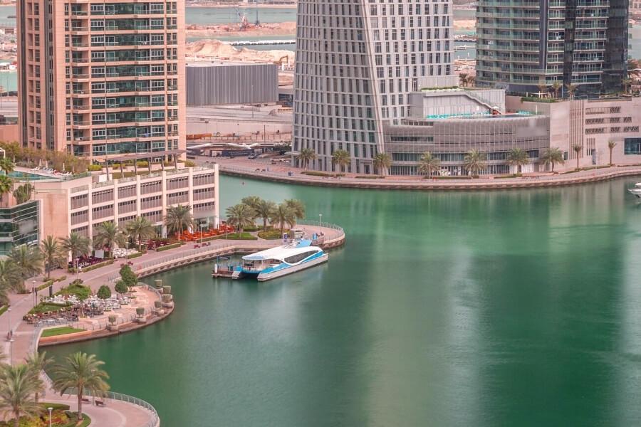 Dubai Ferry in Dubai Marina