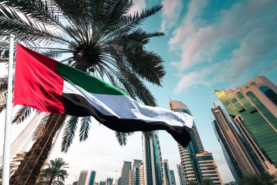 UAE flag in Dubai - Dubai Public Holidays