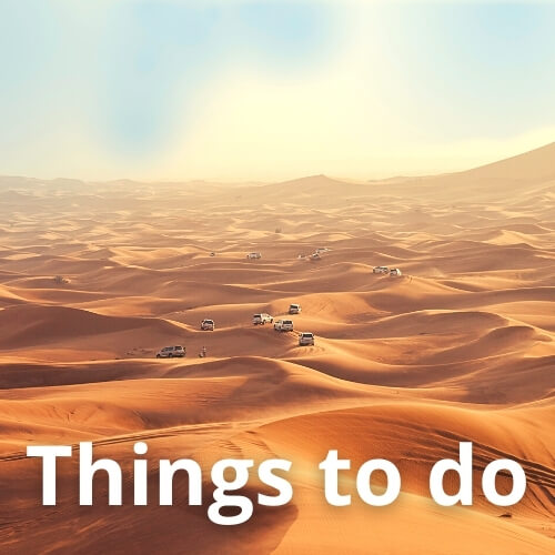 Things to Do - the Dubai Desert
