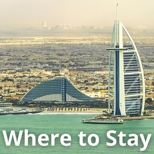 Where to stay - Dubai popular hotels on the beach