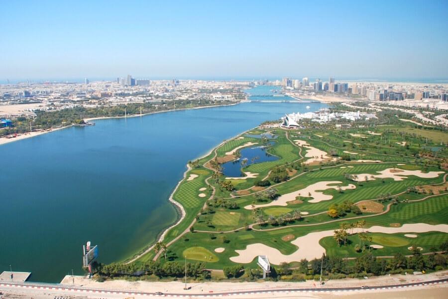 Dubai Creek and beautiful golf course