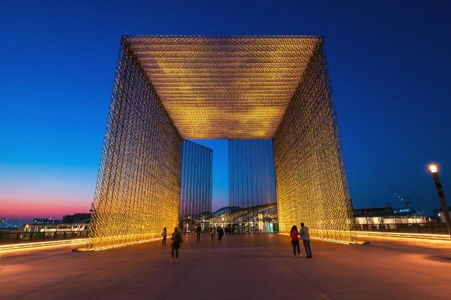 Entrance gate sustainability pavillion at Expo 2020