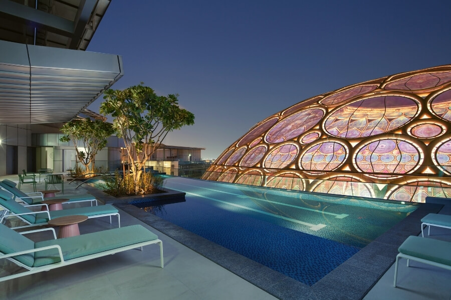 Roof top pool for Rove Expo 2020